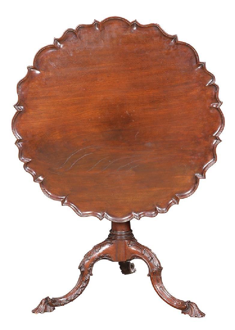 English mahogany tripod table, circa 1800, having a - 2