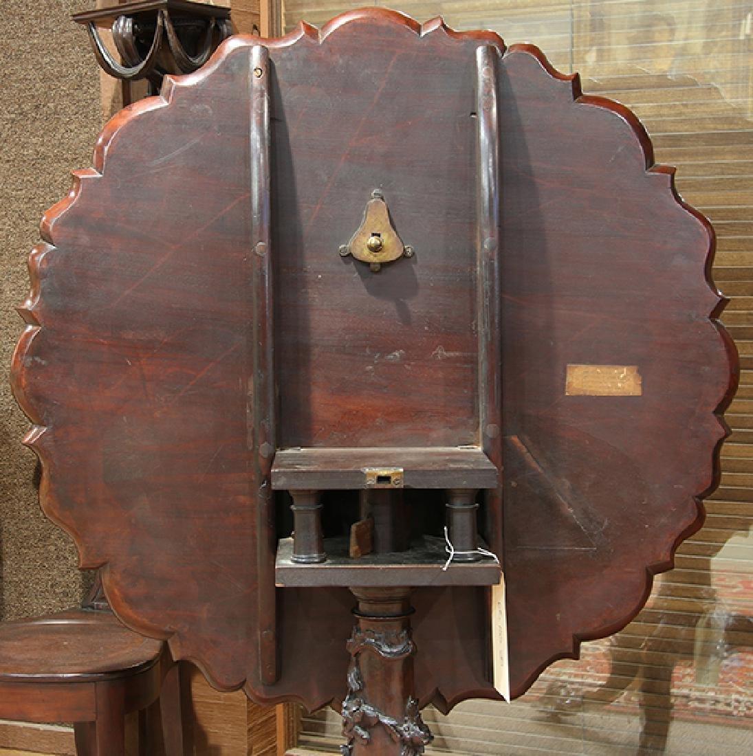 English mahogany tripod table, circa 1800, having a - 6