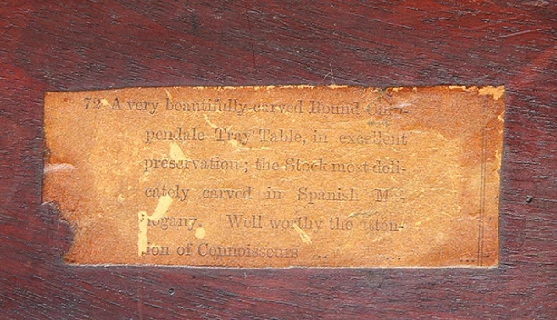 English mahogany tripod table, circa 1800, having a - 7