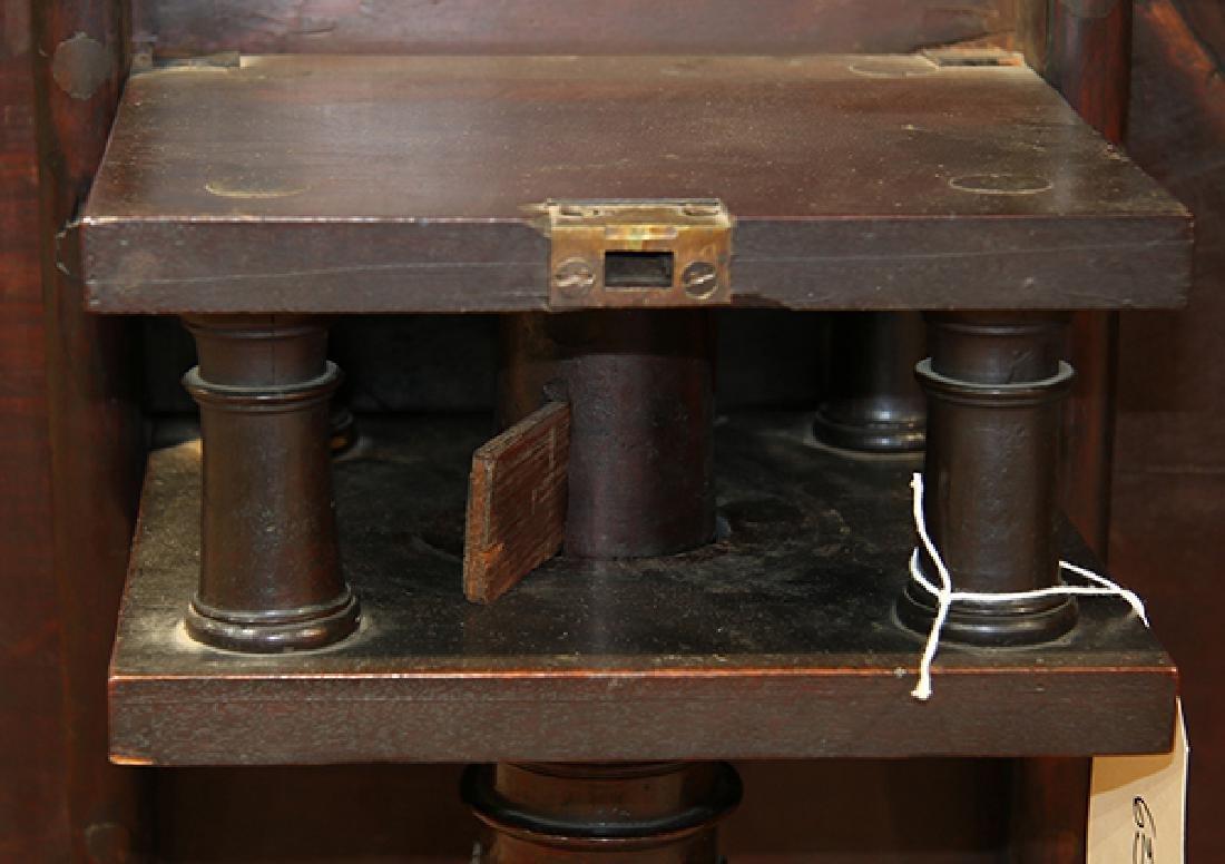 English mahogany tripod table, circa 1800, having a - 9