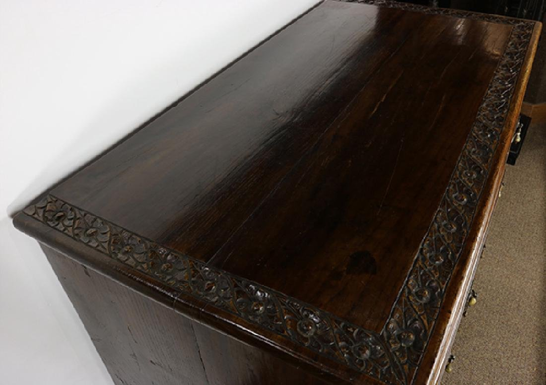 Anglo-Indian carved elm chest circa 1870 - 3