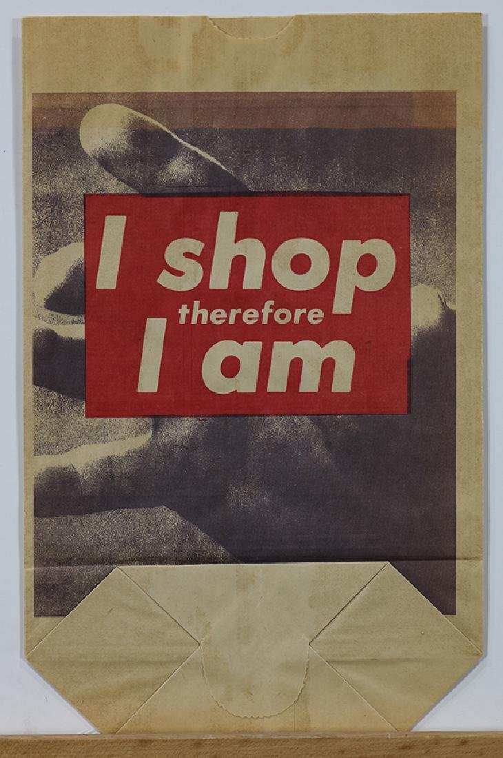 Print, Barbara Kruger, I Shop Therefore I Am