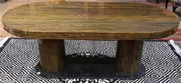 Modern zebra wood dining table