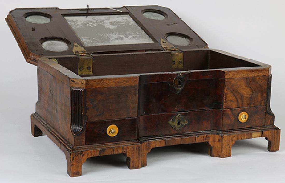 English marquetry decorated walnut box circa 1840, - 3