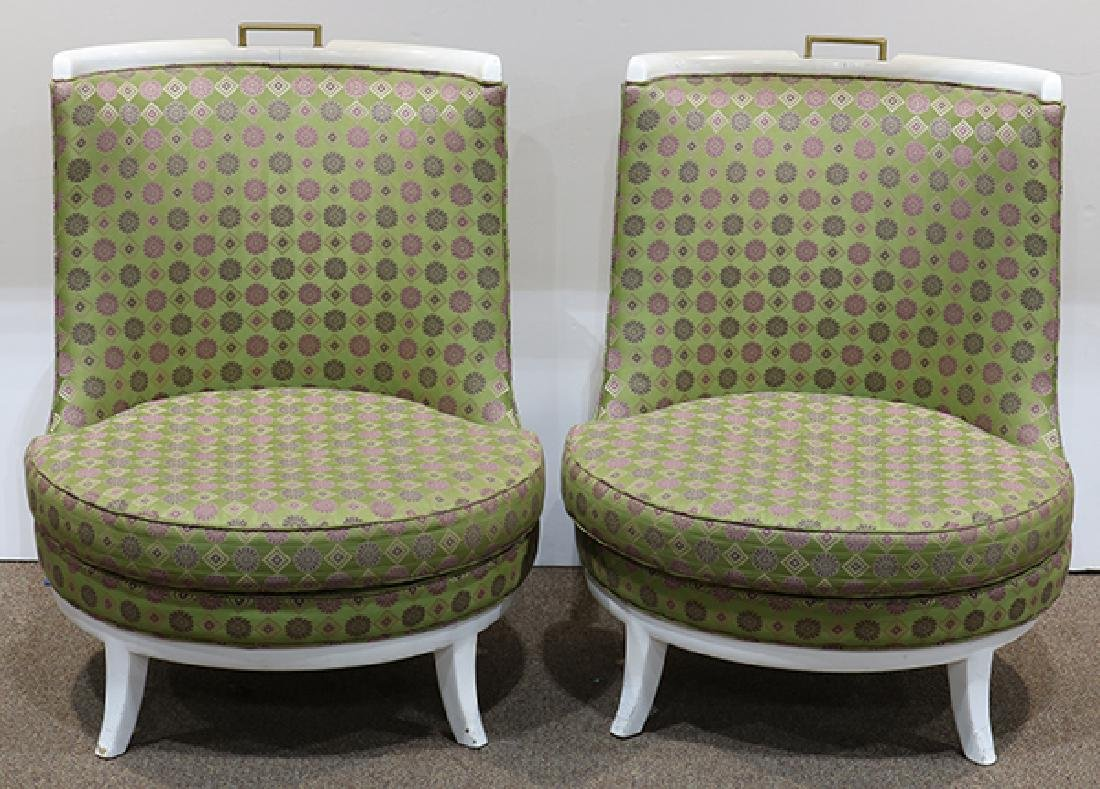 Pair of Mid Century Barney's club chairs