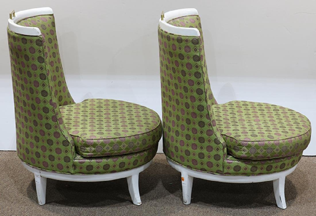 Pair of Mid Century Barney's club chairs - 4