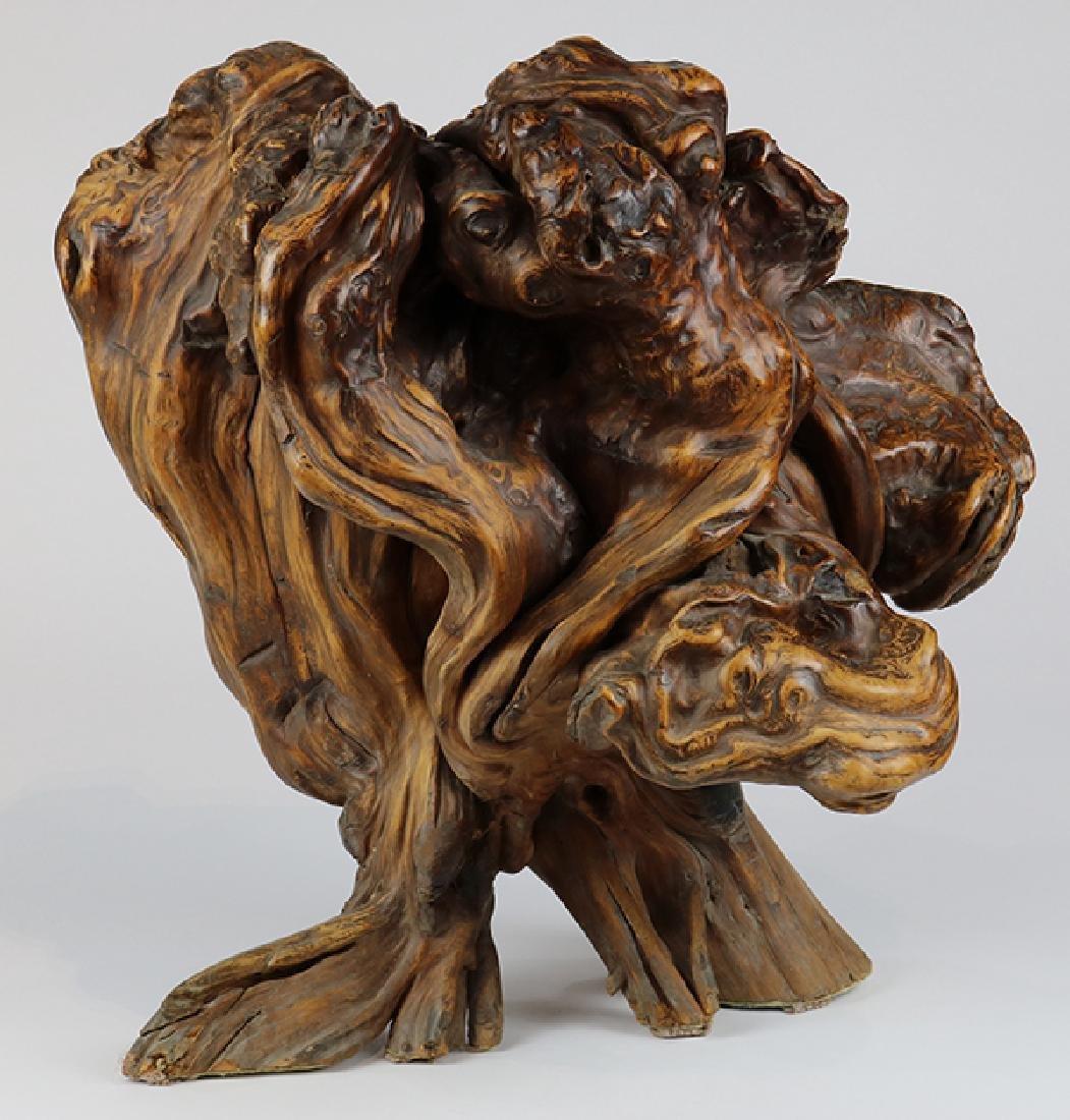 Asian style sculptural driftwood centerpeice