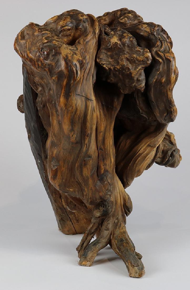 Asian style sculptural driftwood centerpeice - 2