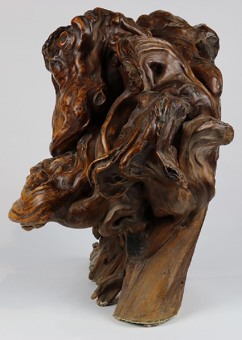 Asian style sculptural driftwood centerpeice - 4