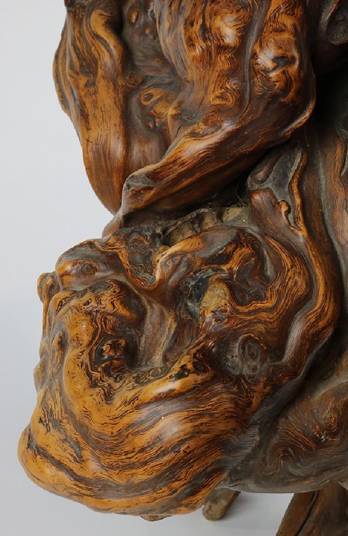 Asian style sculptural driftwood centerpeice - 5