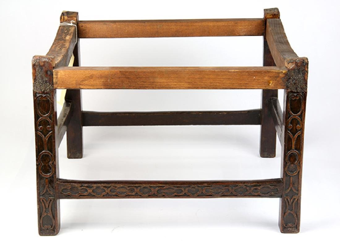 Chinese Chippendale mahogany stool, 18th/19th century,