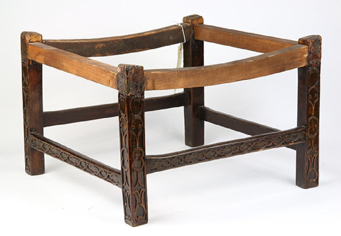Chinese Chippendale mahogany stool, 18th/19th century, - 2