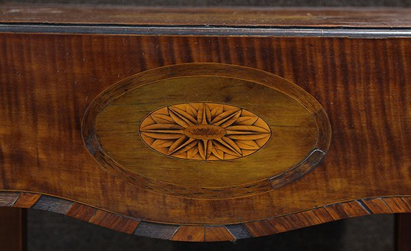 George III inlaid sycamore on mahogany pembroke table - 7