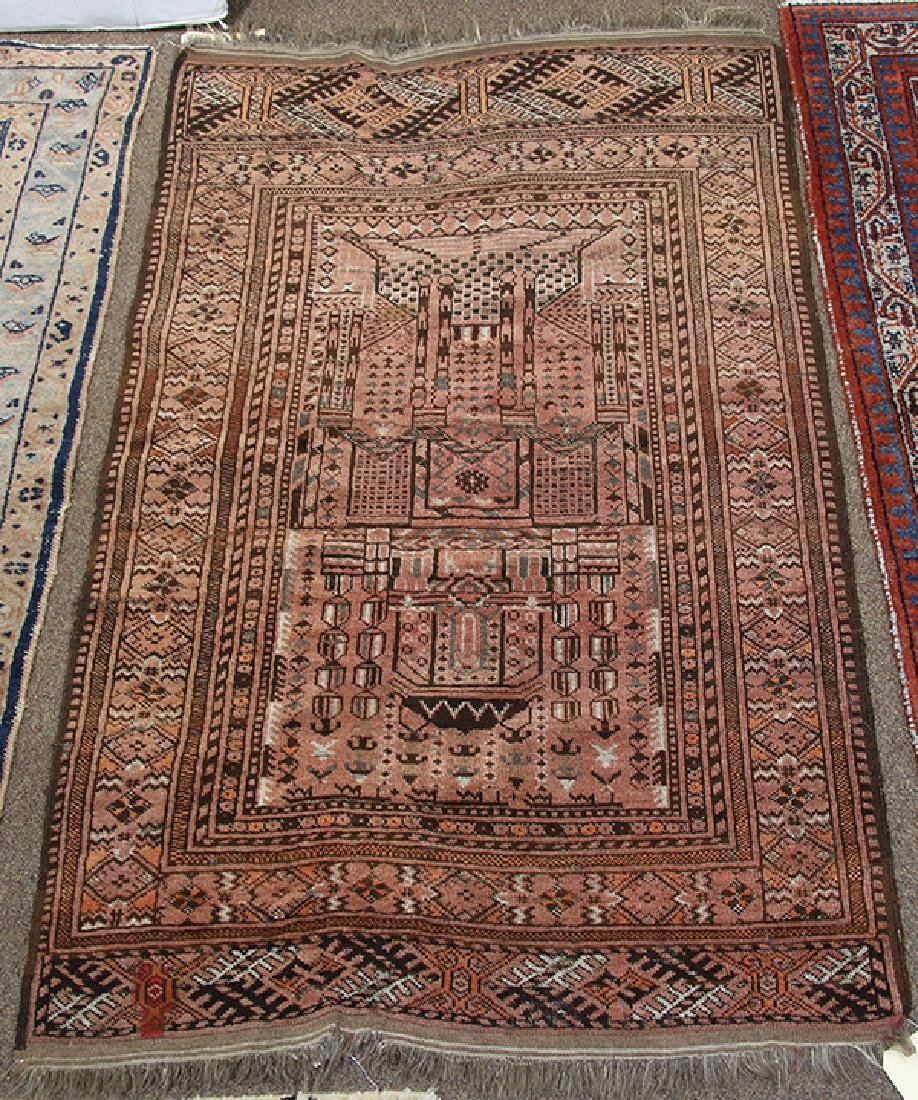 "Afghan Belouch prayer rug, 4'8"" x 2'10"""
