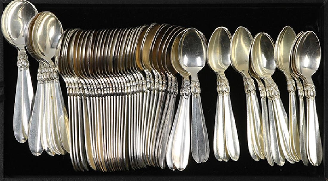 (lot of 190) Danish sterling silver extensive partial - 4