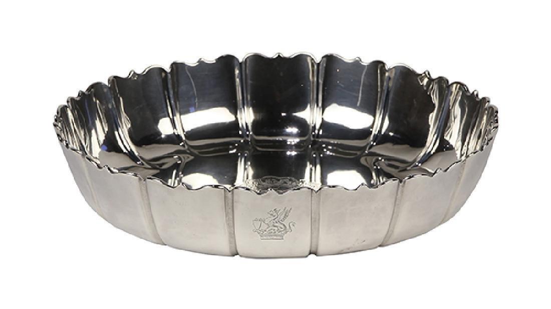 "English George I sterling silver ""Dublin"" pattern bowl,"