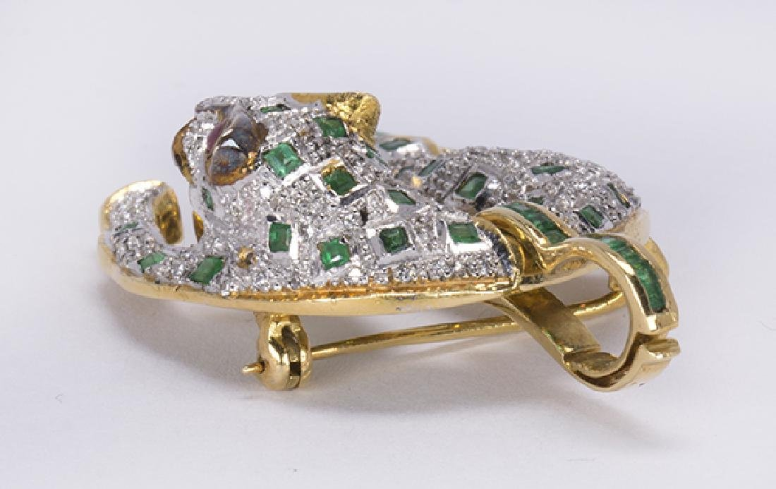 Emerald, ruby, diamond and yellow gold leopard jewelry - 4