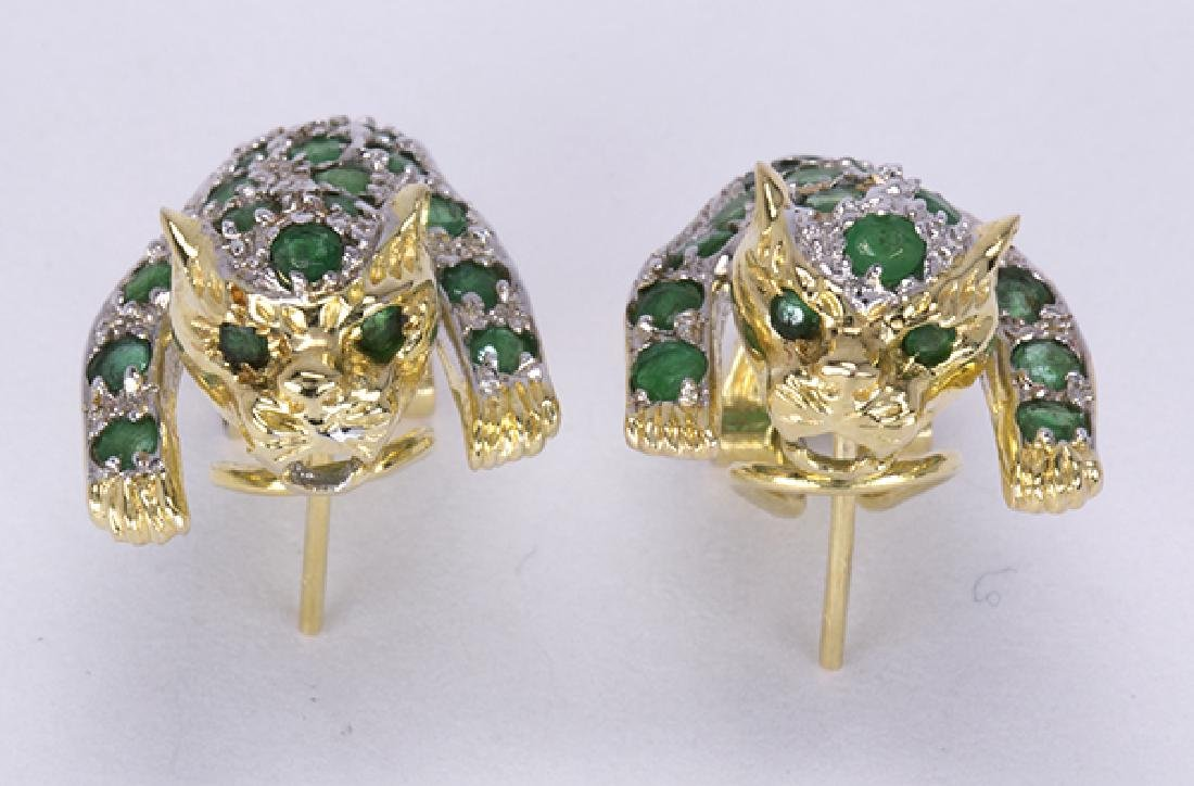 Emerald, ruby, diamond and yellow gold leopard jewelry - 7