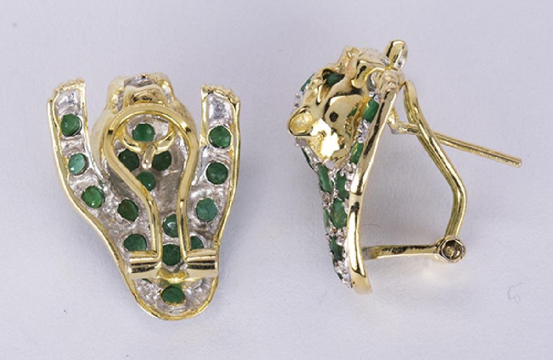 Emerald, ruby, diamond and yellow gold leopard jewelry - 8