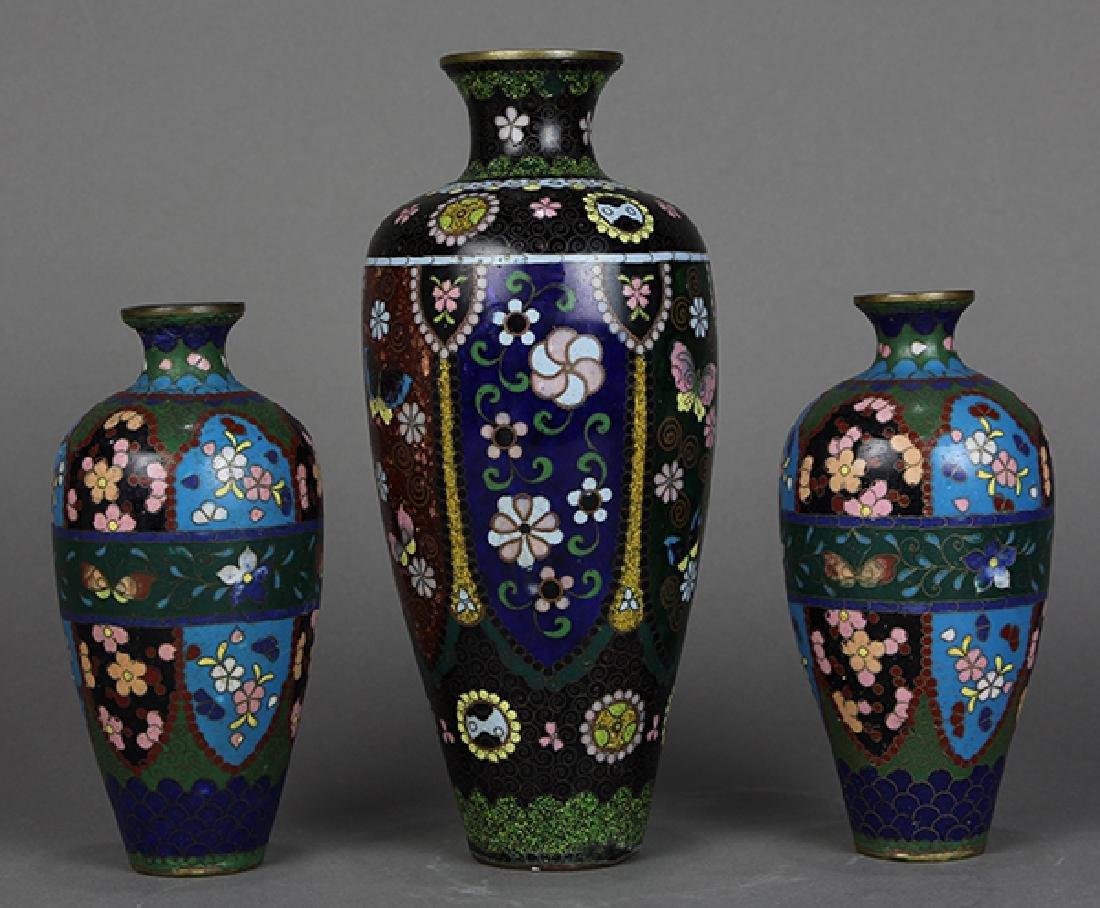 Japanese Cloisonne Vases, Teapot - 10