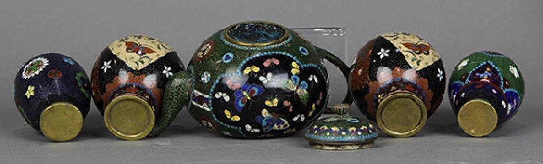 Japanese Cloisonne Vases, Teapot - 6