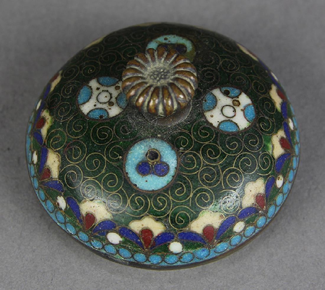 Japanese Cloisonne Vases, Teapot - 7