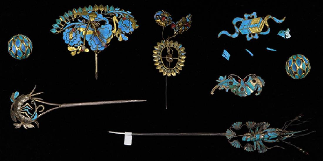 Chinese Kingfisher Feather Hairpin