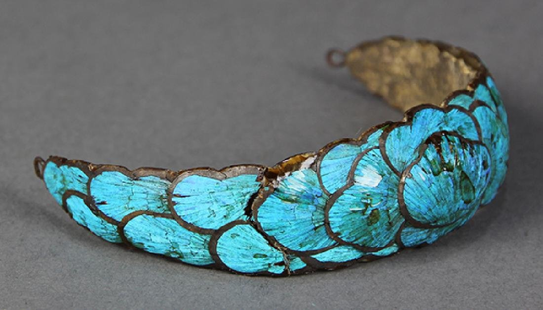 Chinese Kingfisher Feather Hairpins - 7