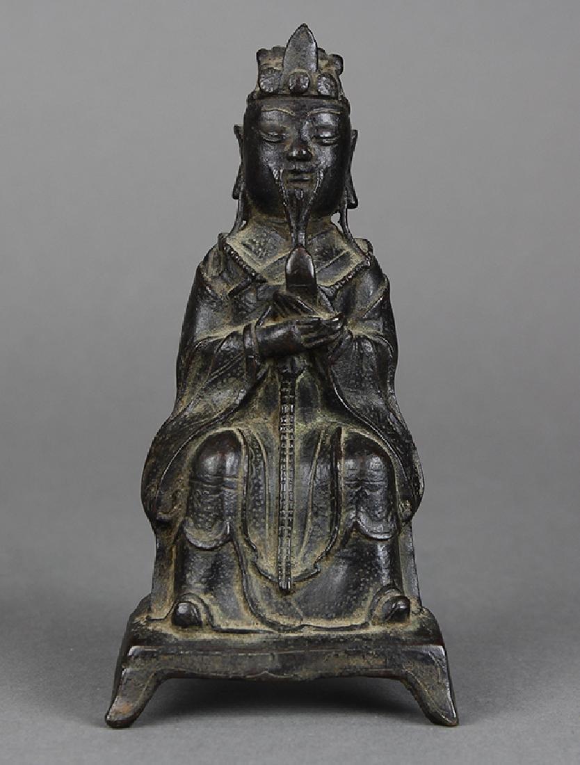 Chinese Bronze Daoist Deity