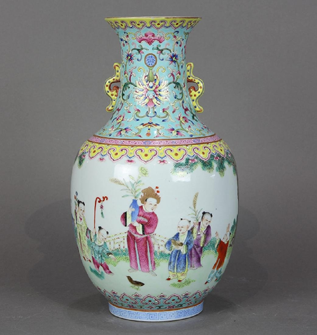 Chinese Porcelain Vase, Children at Play