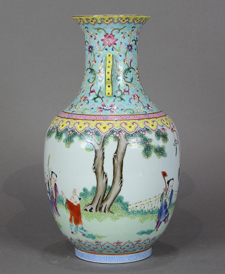 Chinese Porcelain Vase, Children at Play - 2