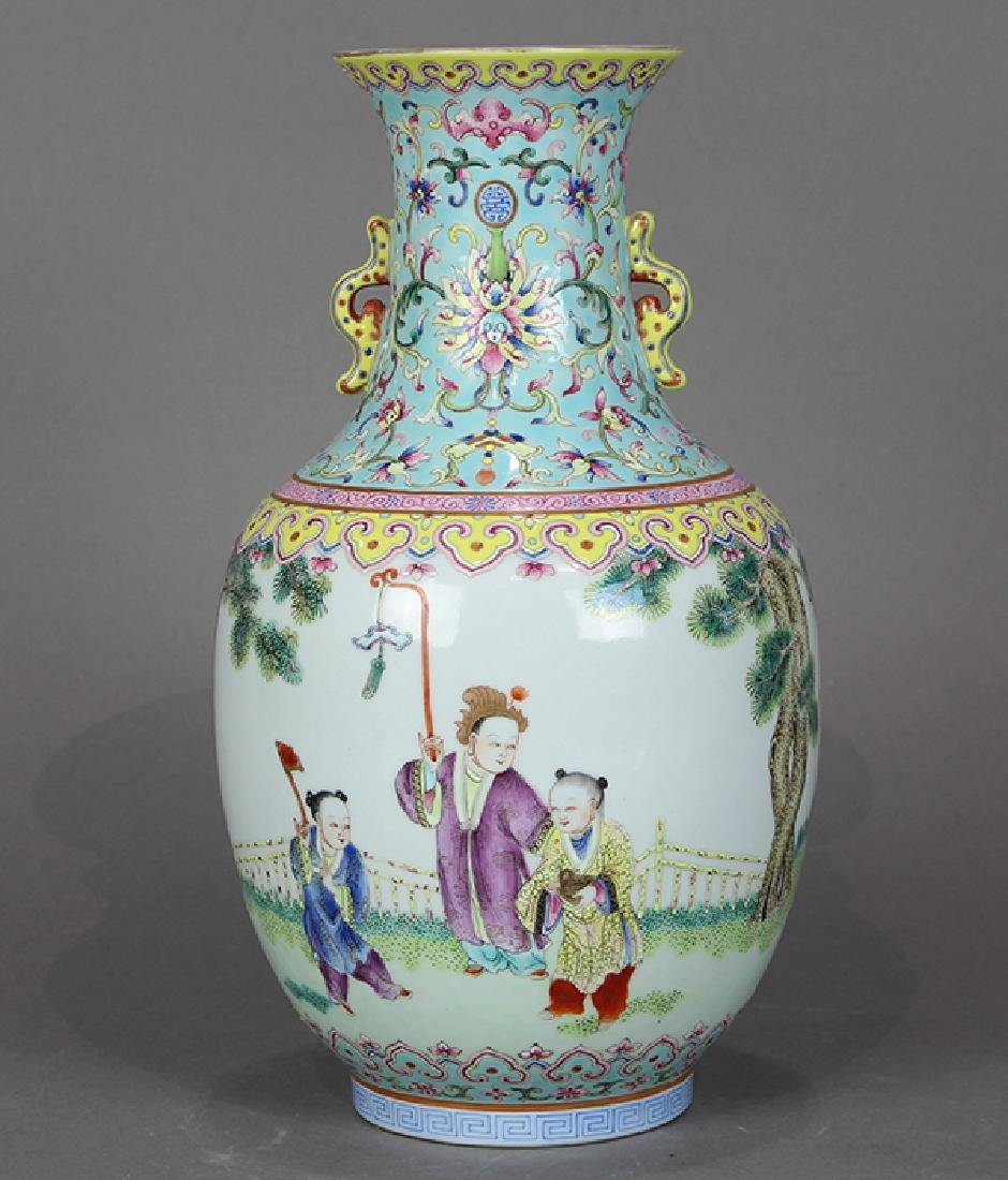 Chinese Porcelain Vase, Children at Play - 3