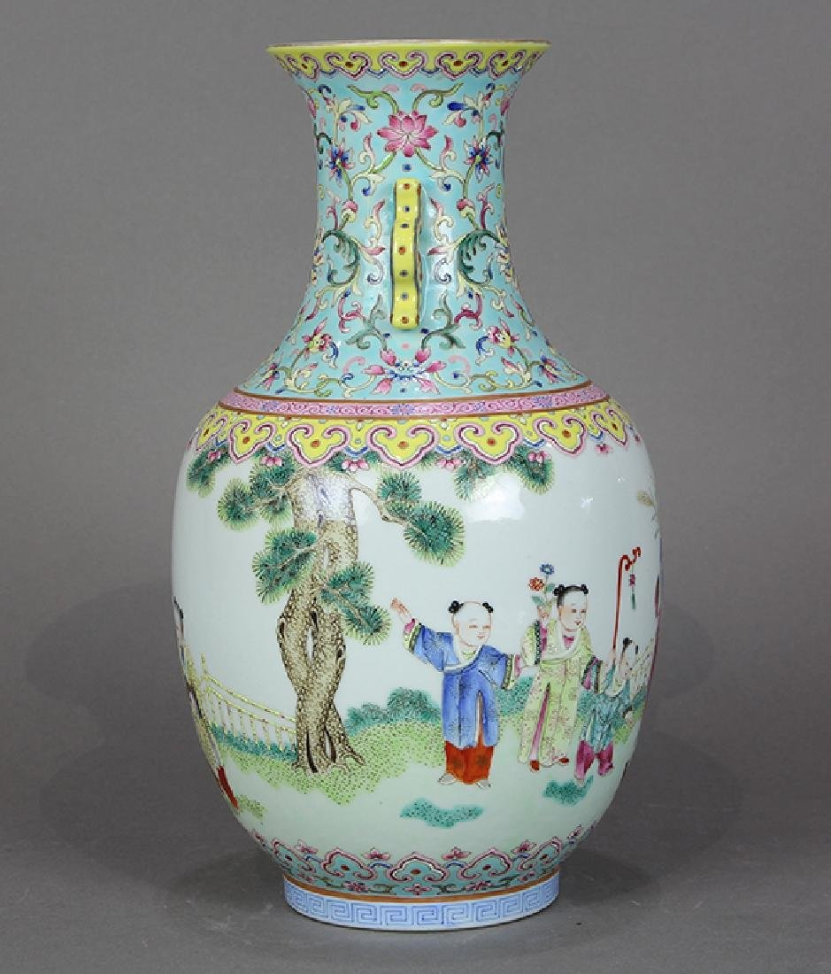 Chinese Porcelain Vase, Children at Play - 4