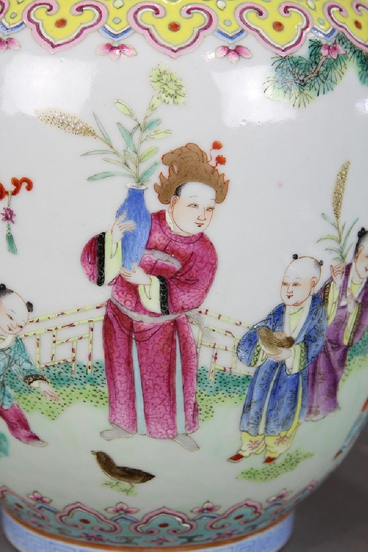 Chinese Porcelain Vase, Children at Play - 8
