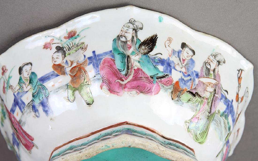 Chinese Footed Porcelain Bowls - 10