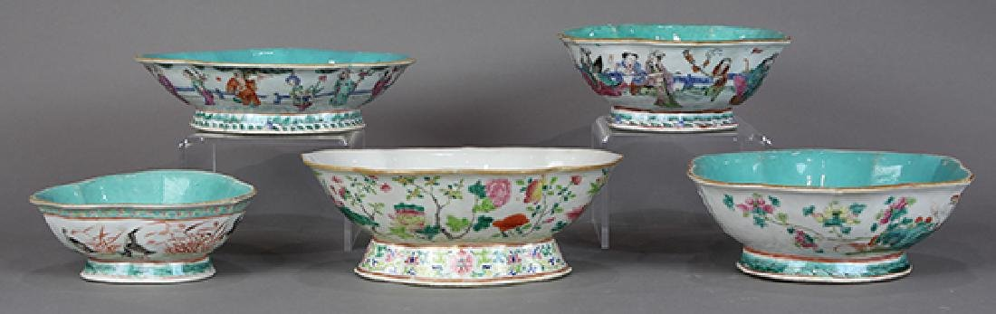 Chinese Footed Porcelain Bowls