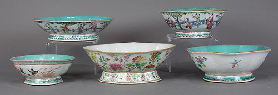 Chinese Footed Porcelain Bowls - 3