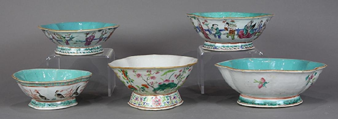Chinese Footed Porcelain Bowls - 4
