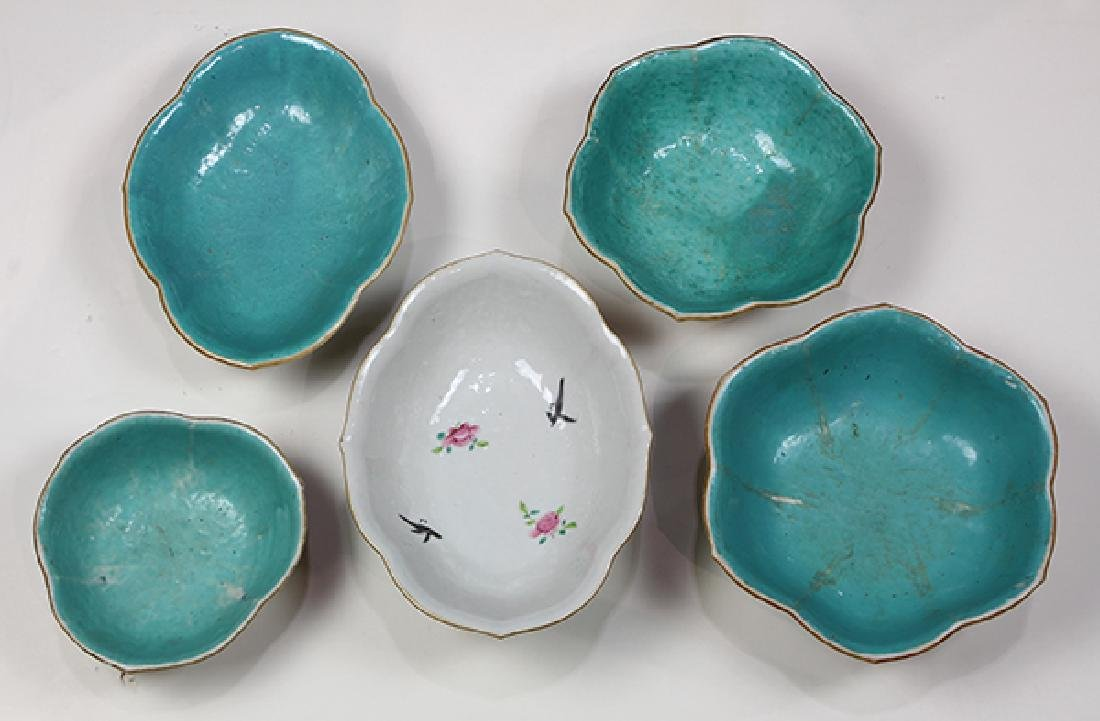 Chinese Footed Porcelain Bowls - 5
