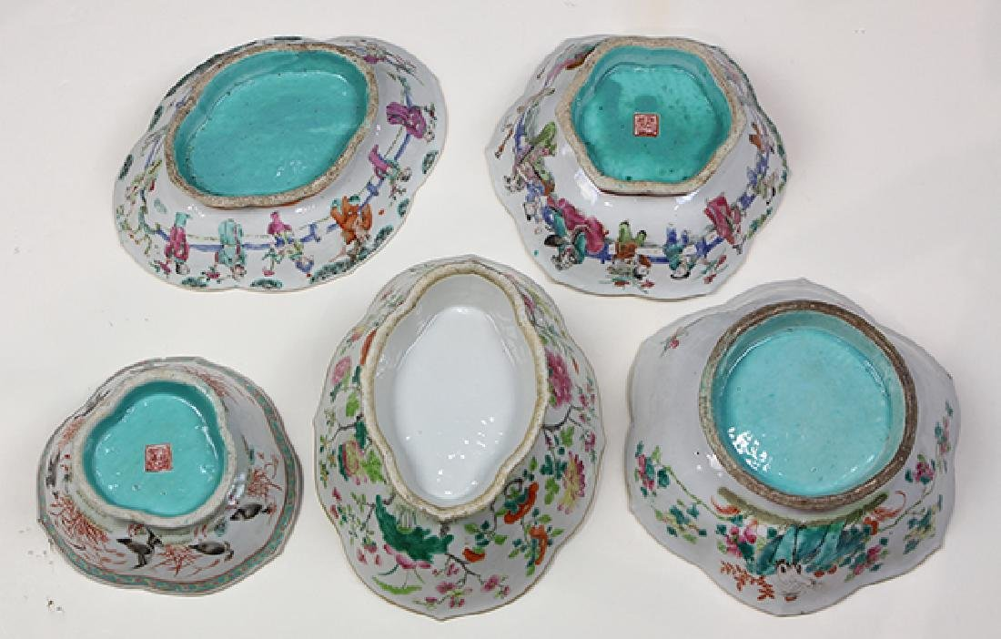 Chinese Footed Porcelain Bowls - 6