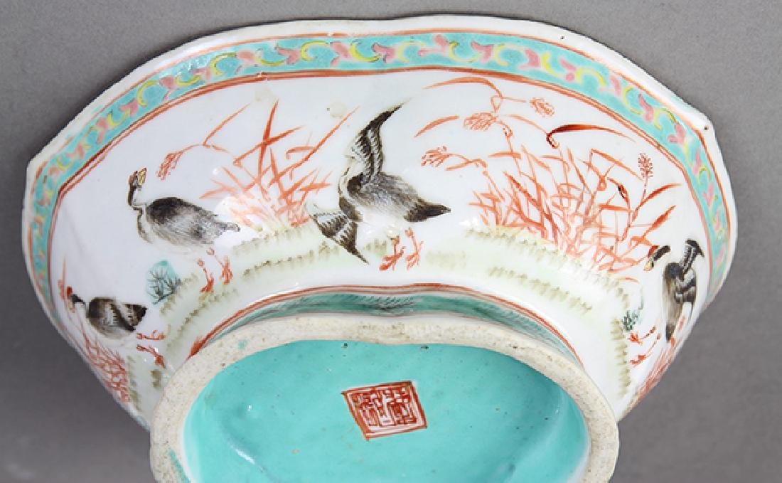 Chinese Footed Porcelain Bowls - 9