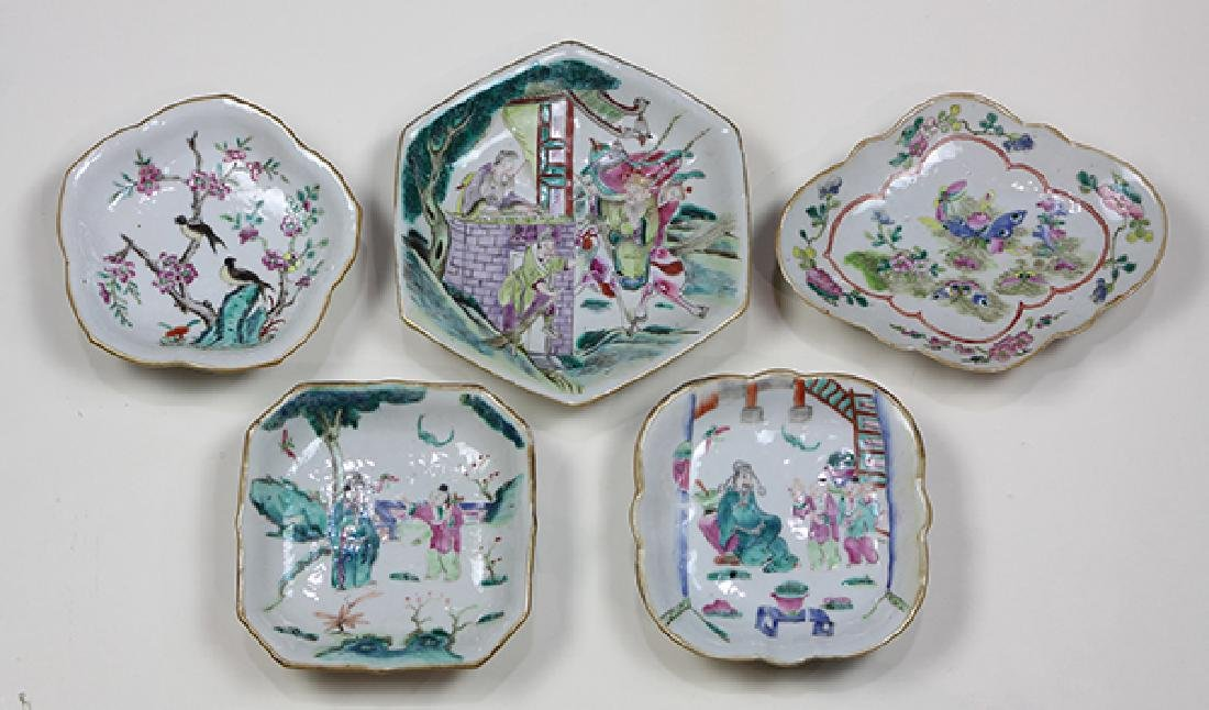 Chinese Porcelain Footed Dishes