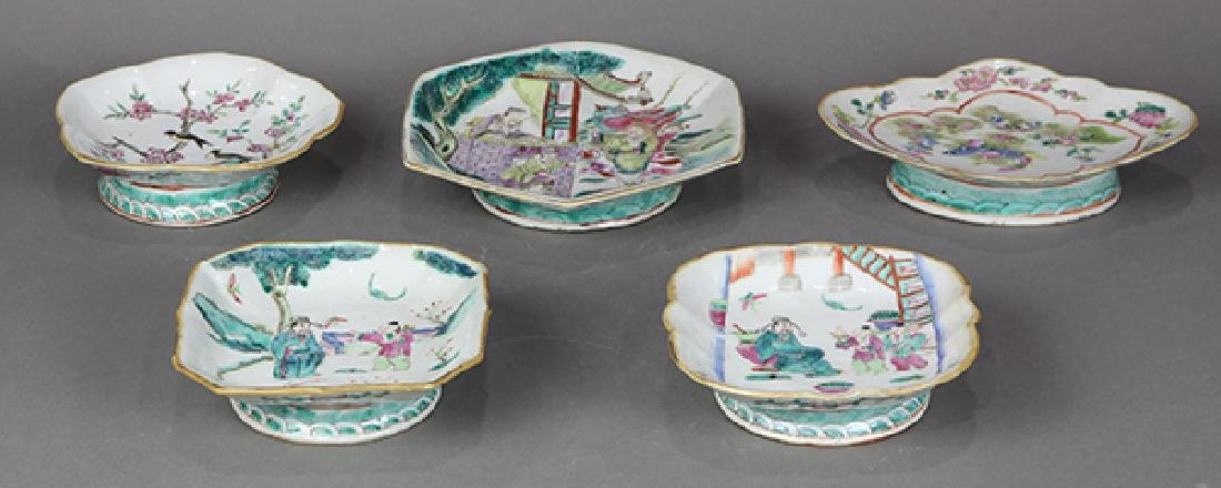 Chinese Porcelain Footed Dishes - 3