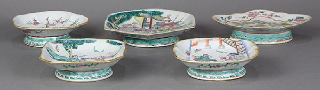 Chinese Porcelain Footed Dishes - 4