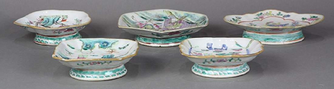 Chinese Porcelain Footed Dishes - 6