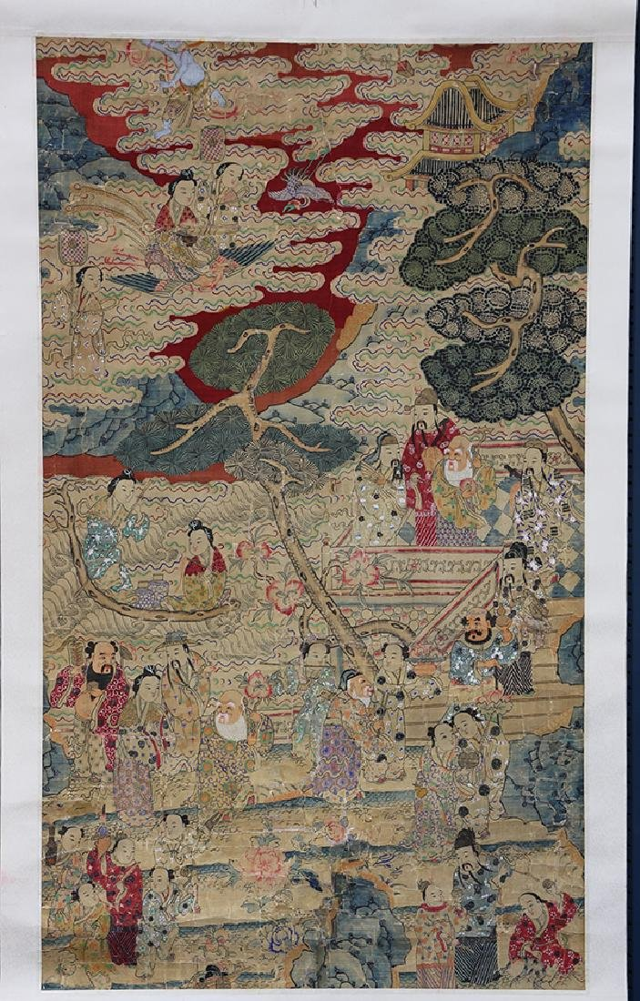 Chinese Textile, Daoist Immortals - 2