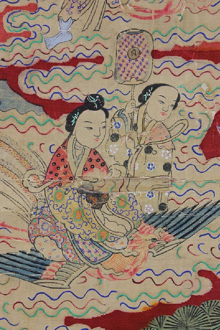 Chinese Textile, Daoist Immortals - 4