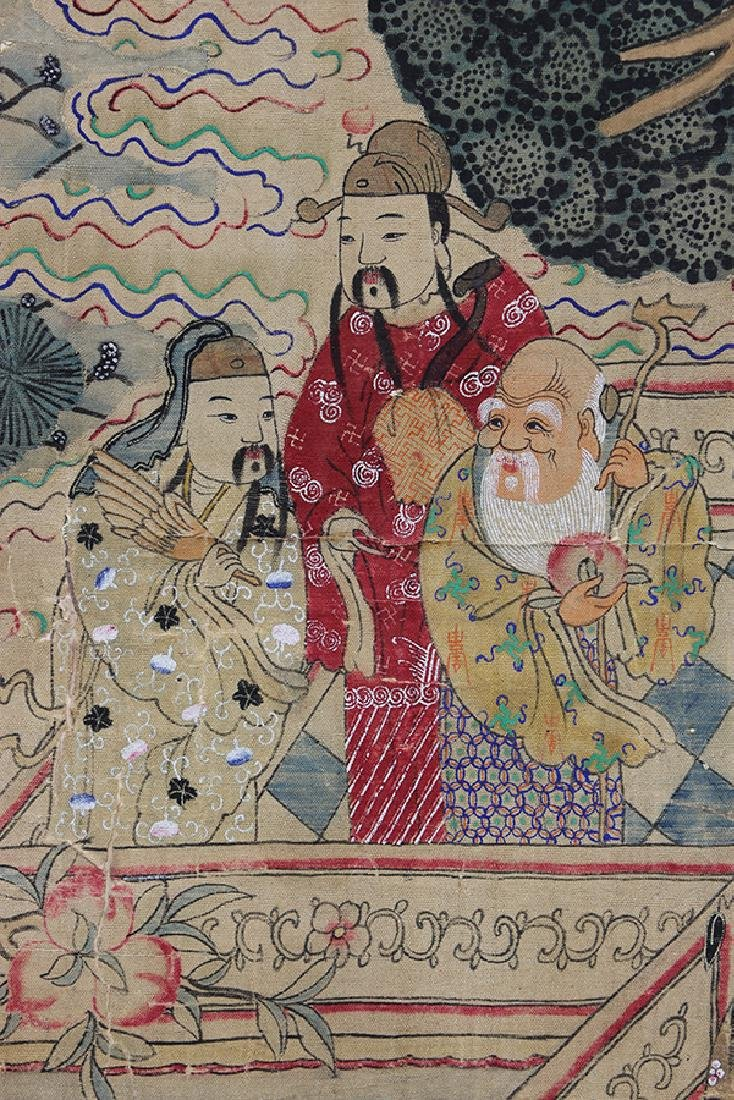 Chinese Textile, Daoist Immortals - 5