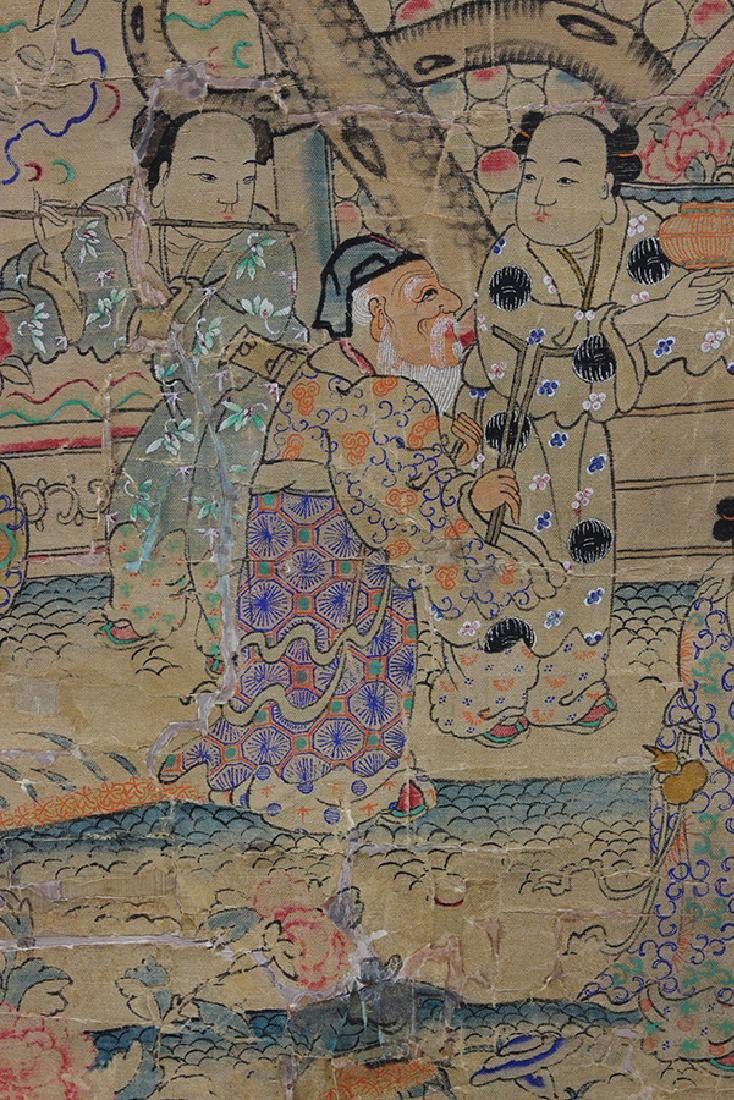 Chinese Textile, Daoist Immortals - 7