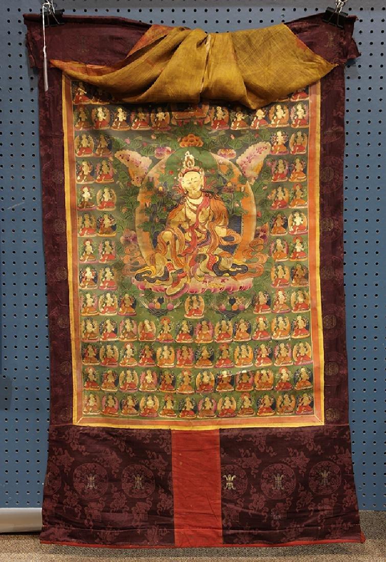 Himalayan Painted Thangka, Tara